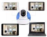 Draadloze HD IP Camera   WiFi Smart Bewakings Camera met Nachtvisie   Baby Monitor   360 Graden Draaibaar   Te bedienen via Smartphone en/of Tablet_
