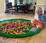 2 in 1 Speelgoed Opberg Kleed | Speelgoed Organizer | Speelmat voor Kinderen | Opbergzak Speelkleed | Diameter 1.5 Meter_