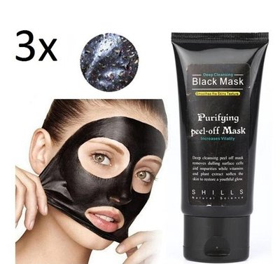 3 stuks van 50 ml | Black Head Peel Off Mask Tube | Mee Eters & Acne verwijderen | Peel Off Mask | Blackhead Pilaten Masker | Black Head Mask