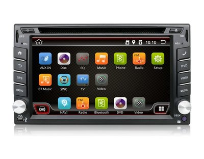 Navigatie radio | Dubbel din universeel | Android 6.0 | 6.2 inch touchscreen | DVD  GPS Wifi Mirror link OBD2 Bluetooth 3G/4G