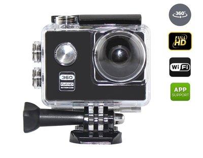 Full HD Sport Actie camera EN 360 Graden Camera   Uniek model, dubbele functie   Waterdichte behuizing   Action Sports Cam incl. accessoires