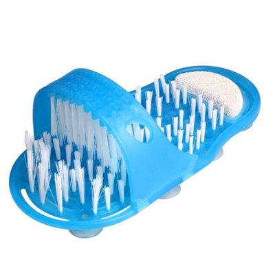 Voetscrubber | Voet Scrub | Shower Feet | Makkelijk voeten wassen en scrubben in de Douche | Kleur Blauw