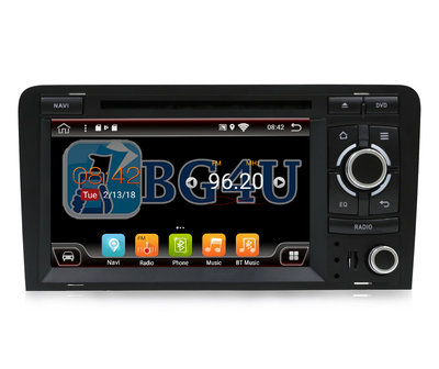Navigatie radio Audi A3 / S3, Android OS, 7 inch scherm,  GPS, Wifi, Mirror link, DAB+, Bluetooth, Canbus