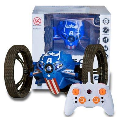 Jumping Bounce Car Sumo | Bestuurbare Stunt Auto | Bouncing Car Robot met Licht & Geluid | Kleur Blauw