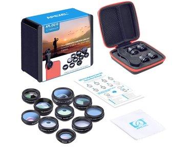 10 in 1 Smartphone Lens Kit | Clip on Lenzen Kit 10 Verschillende Lenzen | Telefoon Opzet Lens Set