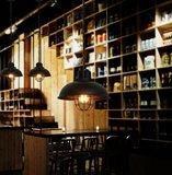 Stoere Robuuste Retro Industriële Hanglamp | Vintage Metalen Bar Cafe Style Hang Lamp | Inclusief Edison Filament Lichtbron | Kleur Zwart_