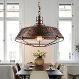 Stoere Robuuste Retro Industriële Hanglamp   Vintage Metalen Bar Cafe Style Hang Lamp   Inclusief Edison Filament Lichtbron   Kleur Roestkleur_