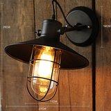 Stoere Robuuste Wandlamp | Vintage Retro Bar Cafe Style Hang Wand Lamp | Industriële Hanglamp | Inclusief Edison Filament Lichtbron_