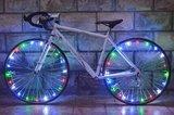 Spaakverlichting LED - Spaak wiel Led verlichting | Fiets Licht | Lichtsnoer Fietswiel | Fiets Wiel Licht | 20 Leds | 2 functies | 220 Cm | Geschikt voor 1 fietswiel_