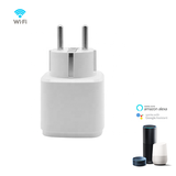 WiFi Smart Socket | Slimme WiFi Stekker Plug | Smart Socket werkt met App Control | Spraakbesturing via Google Home en Amazon Alexa | Duo Set_