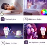 WiFi Smart Bulb E27 LED Lamp| RGB & Warm Wit WiFi Lamp E27 | Slimme LED Spot werkt met Google Home, Alexa & Siri_