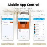 WiFi Smart Gordijn Rails | Gemotoriseerde Rail voor alle Gordijn Types | Slimme Automatische Gordijnrails | Voice Control met Google Assistant en Amazon Alexa_