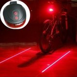 LED Lamp Fiets Verlichting Met Laser   Extra Veilig Fietsen   9 Verschillende Functie's   Achterlicht   Achter Lamp Fiets   Achterlamp met Laser_