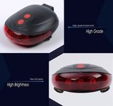 LED Lamp Fiets Verlichting Met Laser | Extra Veilig Fietsen | 9 Verschillende Functie's | Achterlicht | Achter Lamp Fiets | Achterlamp met Laser_