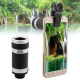 4 in 1 Telefoon / Smartphone Opzetlens Kit | Macro, Wide Angle, Fish Eye, 8x Optische Zoom Telelens | Opzet Lens Telefoon_