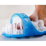 Voetscrubber   Voet Scrub   Shower Feet   Makkelijk voeten wassen en scrubben in de Douche   Kleur Blauw_