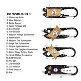 20 in 1 Multi Tool Sleutelhanger   Portable Survival Multitool met 20 Verschillende Functies_