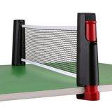 Pocket Tafel Tennis Net   Ping Pong Reis Net   Tafeltennis Net Uitschuifbaar tot 2 meter   Zwart/Rood_