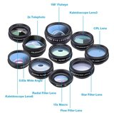 10 in 1 Smartphone Lens Kit | Clip on Lenzen Kit 10 Verschillende Lenzen | Telefoon Opzet Lens Set_