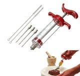 Marinade Injectiespuit   Vlees Injectie Spuit   Barbecue Vlees Injector   BBQ Marinade Saus Injectiespuit   Vaatwasser bestendig_