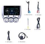 Navigatie radio Honda Jazz 2002-2008, Android OS, Apple Carplay, 9 inch scherm, GPS, Wifi, Mirror link, Bluetooth_