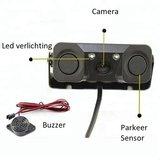 3 in 1 Achteruitrijcamera en Parkeersensoren met Nachtzicht | Waterdichte Achteruitrijcamera met 2 parkeersensoren | Compleet Systeem voor uw Auto_