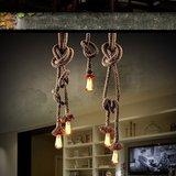 Retro Touw LED Hang Lamp | Vintage Scheepstouw Hanglamp | Dimbare Touwlamp met 2x 150cm Touw en 2 E27 Fittingen | Inclusief 2x Retro LED Lamp 2 Watt Warm Wit Dimbaar_