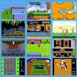Portable Retro Game Console met 400 Games   Retro Classic Mini Game 1 of 2 Spelers   Draagbare Handheld Game Box 400 Games   Zwart_