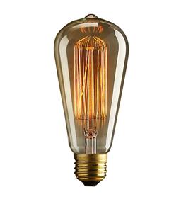 Vintage Edison Licht Bulb Dimbaar   Retro Filament Lamp   40 Watt E27 Lichtbron   Dimbare Kooldraad Lamp