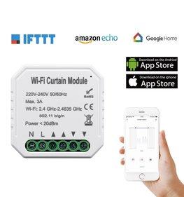 WiFi Smart Up and Down Schakelaar   Smart WiFi Open Dicht Schakelaar   Smart WiFi Inbouwschakelaar Up/Down  Voice Control werkt met Google Assistant en Amazon Alexa