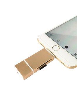 Flashdrive, usb stick, sd kaart lezer, voor o.a. iPhone 5 5s 6 6s lightning, usb aansluiting en micro usb aansluiting