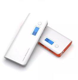 Powerbank 10.000mAh met LCD display | hoge kwaliteit | dubbele USB uitgang | LED zaklamp functie