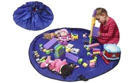 2 in 1 Speelgoed Opberg Kleed   Speelgoed Organizer   Speelmat voor Kinderen   Opbergzak Speelkleed   Diameter 1.5 Meter