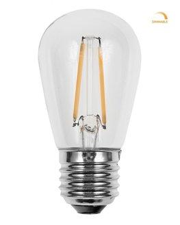 3x Retro LED Filament Lamp E27 fitting   Vintage Warm Wit 2700K 2 Watt Dimbaar   Retro LED Bulb   Set van 3 of 6 stuks