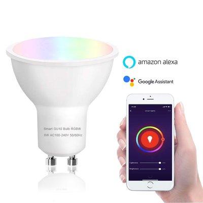 WiFi Smart Bulb GU10 LED Spot | RGB & Warm Wit WiFi Lamp | Slimme LED Spot werkt met Google Home, Alexa & Siri