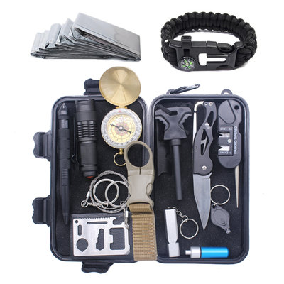 Multitool Ultimate Survival Kit | Outdoor Camping Backpacking Emergency Survival Kit | SOS EDC Multifunctionele Box