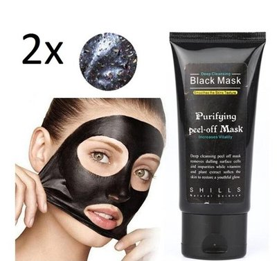 2 stuks van 50 ml | Black Head Peel Off Mask Tube | Mee Eters & Acne verwijderen | Peel Off Mask | Blackhead Pilaten Masker | Black Head Mask