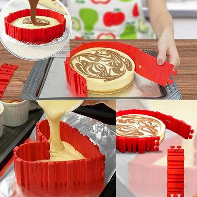 Magic Snake Cake Vorm | Flexibele Siliconen Bakvorm Multifunctioneel | Bak Vorm in verschillende Stylen | Cake Vorm 4 stuks