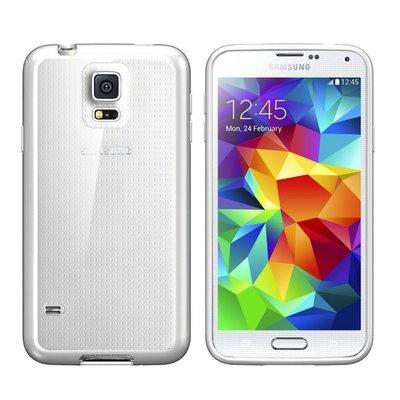 Transparante bumper Samsung S5, i9600, schokabsorberend ultra dun TPU siliconen hoesje