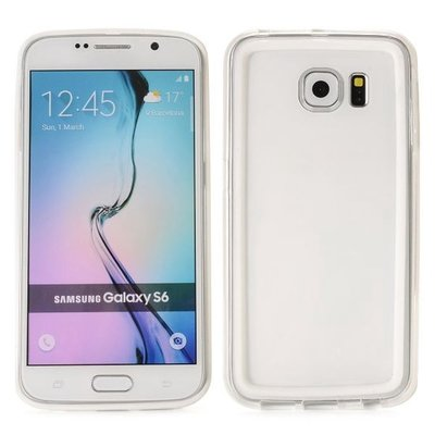 Transparante bumper Samsung S6, G920, schokabsorberend ultra dun TPU siliconen hoesje