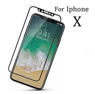 Full Front Tempered Glass Protector Apple iPhone X | 3D volledige Glazen Tempered Screenprotector Gorilla Glass voor iPhone X 10