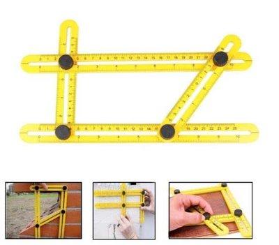 Multi Angle Duimstok | Meer Hoekige Meet Liniaal | Hoek IJzer | Vier Hoekige Meetinstrument | Hoekzoeker Heerser | Kleur Geel