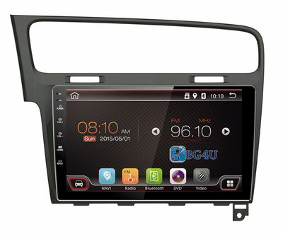 Navigatie radio VW Volkswagen Golf 7, Android 8.1, 10.1 inch scherm, Canbus, GPS, Wifi, Apple Carplay, Mirror link, OBD2, Bluetooth, 3G/4G Piano black