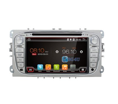 Navigatie radio Ford Focus Mondeo S-Max Galaxy, Android OS, 7 inch scherm, Canbus, GPS, Wifi, Mirror link, OBD2, Bluetooth, 3G/4G Zilver