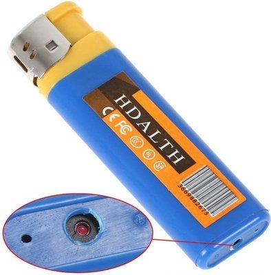 Spyder - Mini Camera & voicerecorder - Aansteker Blauw