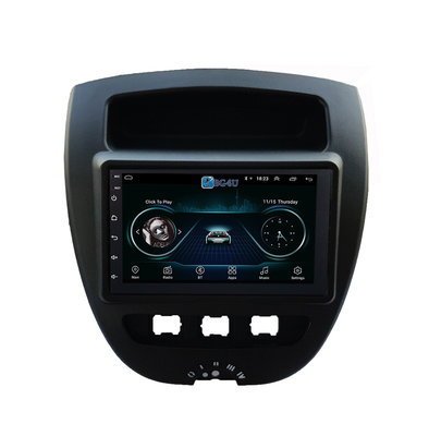 Navigatie radio Citroen C1 Peugeot 107 Toyota Aygo, Android OS, Apple Carplay, 7 inch scherm,  GPS, Wifi, Mirror link, Bluetooth