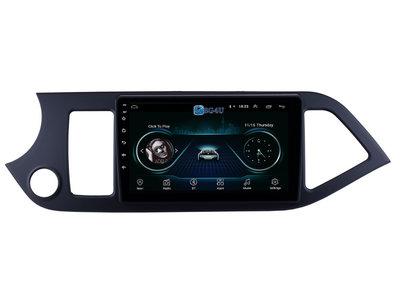 Navigatie radio Kia Picanto 2011-2014, Android OS, Apple Carplay, 9 inch scherm, GPS, Wifi, Mirror link, Bluetooth