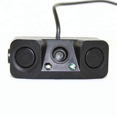 3 in 1 Achteruitrijcamera en Parkeersensoren met Nachtzicht | Waterdichte Achteruitrijcamera met 2 parkeersensoren | Compleet Systeem voor uw Auto