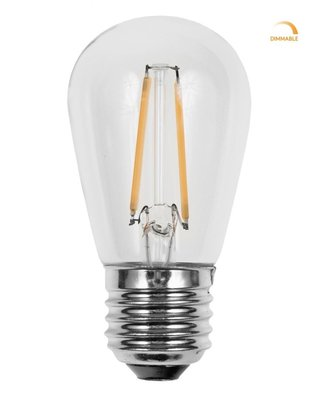 3x Retro LED Filament Lamp E27 fitting | Vintage Warm Wit 2700K 2 Watt Dimbaar | Retro LED Bulb | Set van 3 of 6 stuks