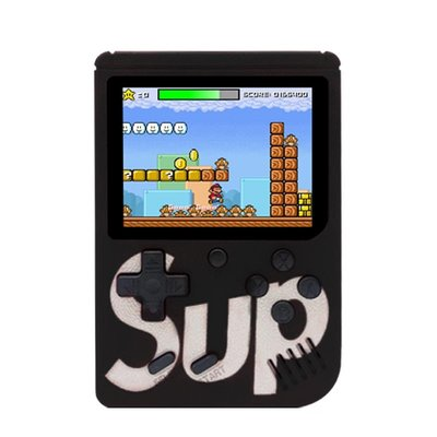 Portable Retro Game Console met 400 Games | Retro Classic Mini Game 1 of 2 Spelers | Draagbare Handheld Game Box 400 Games | Zwart